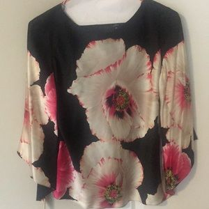 DANA BUCHMAN silk floral top